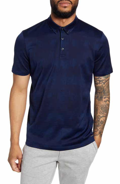 HUGO Dilano Slim Fit Button-Down Polo Shirt
