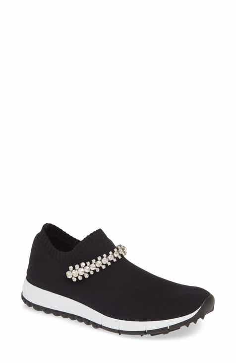 1830c53bca24 Jimmy Choo Verona Crystal Embellished Knit Sneaker (Women)