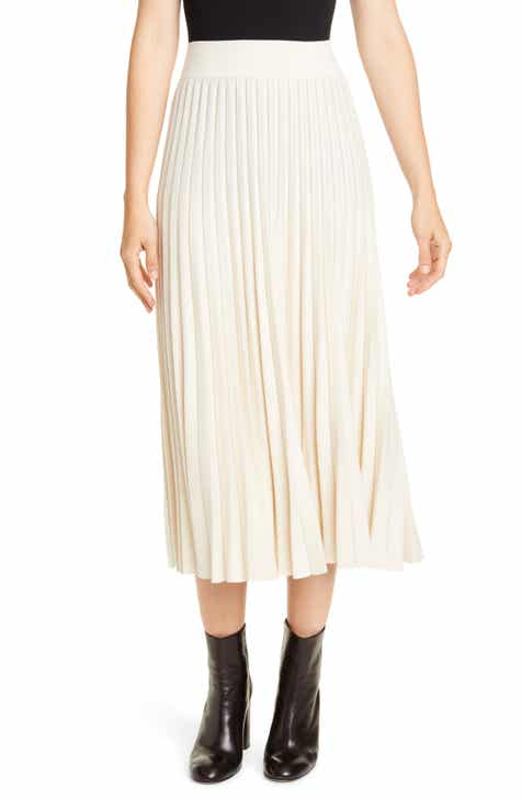 6fcadb3550 Polo Ralph Lauren Sunburst Pleat Wool Midi Skirt