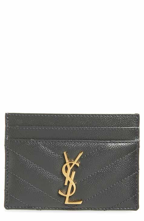 87d19be1bcbfb8 Saint Laurent Monogram Quilted Leather Credit Card Case