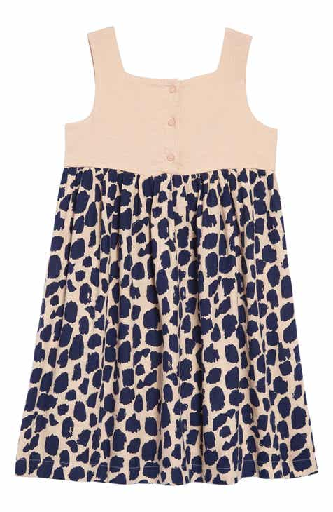 58f5ccb49b97c Something Navy Animal Print Picnic Dress (Toddler Girls, Little Girls & Big  Girls) (Nordstrom Exclusive)