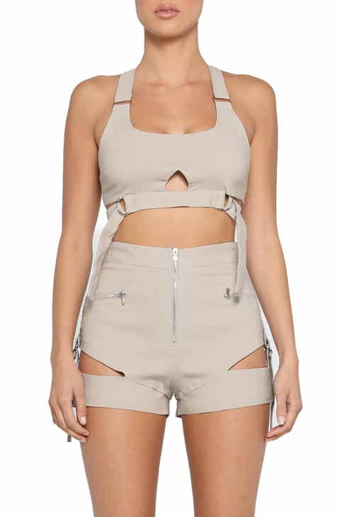 70a66d05b76a6c Tiger Mist Reed Cutout Utility Crop Top