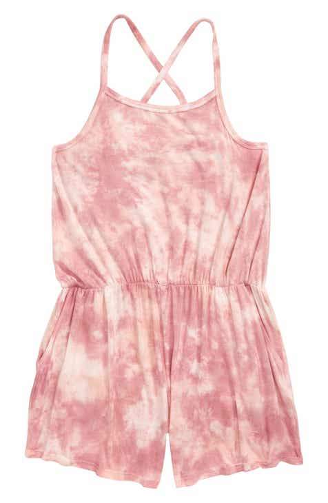 8e145117f5 Tucker + Tate Tie Dye Romper (Big Girls)