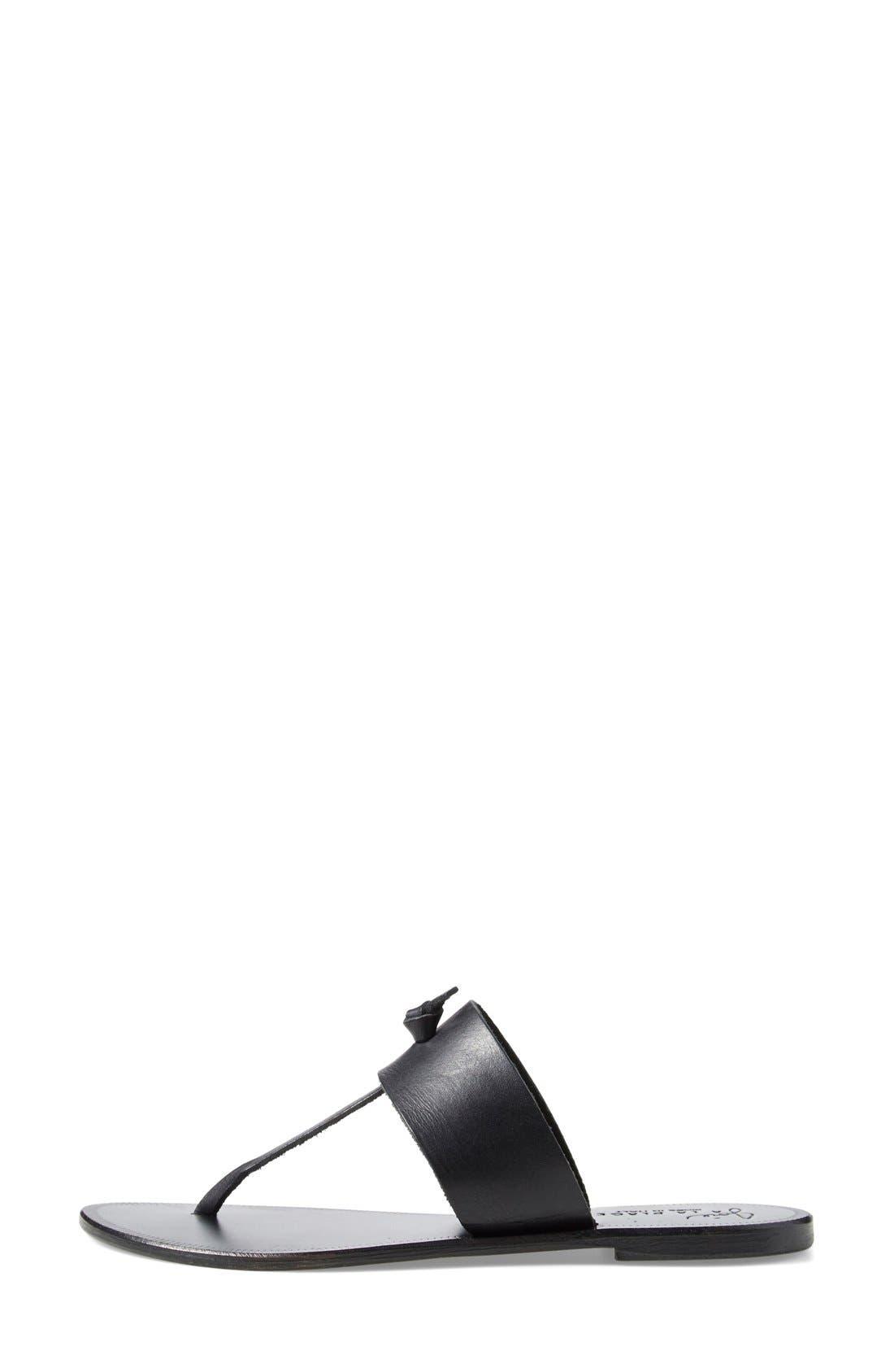a la Plage 'Nice' Flip Flop,                             Alternate thumbnail 4, color,                             Black/ Black