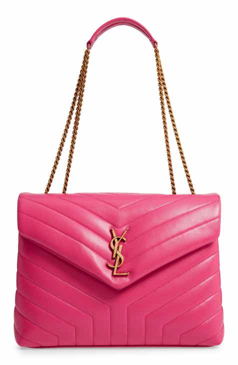 1d34e389523 Saint Laurent Medium Loulou Matelassé Leather Shoulder Bag