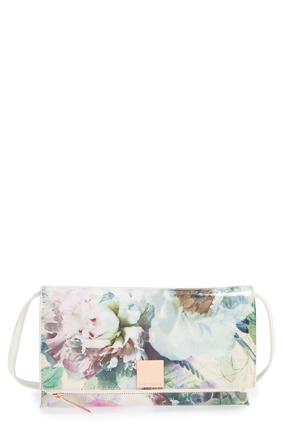 Alternate Image 1 Selected - Ted Baker London 'Peony' Crosshatch Clutch
