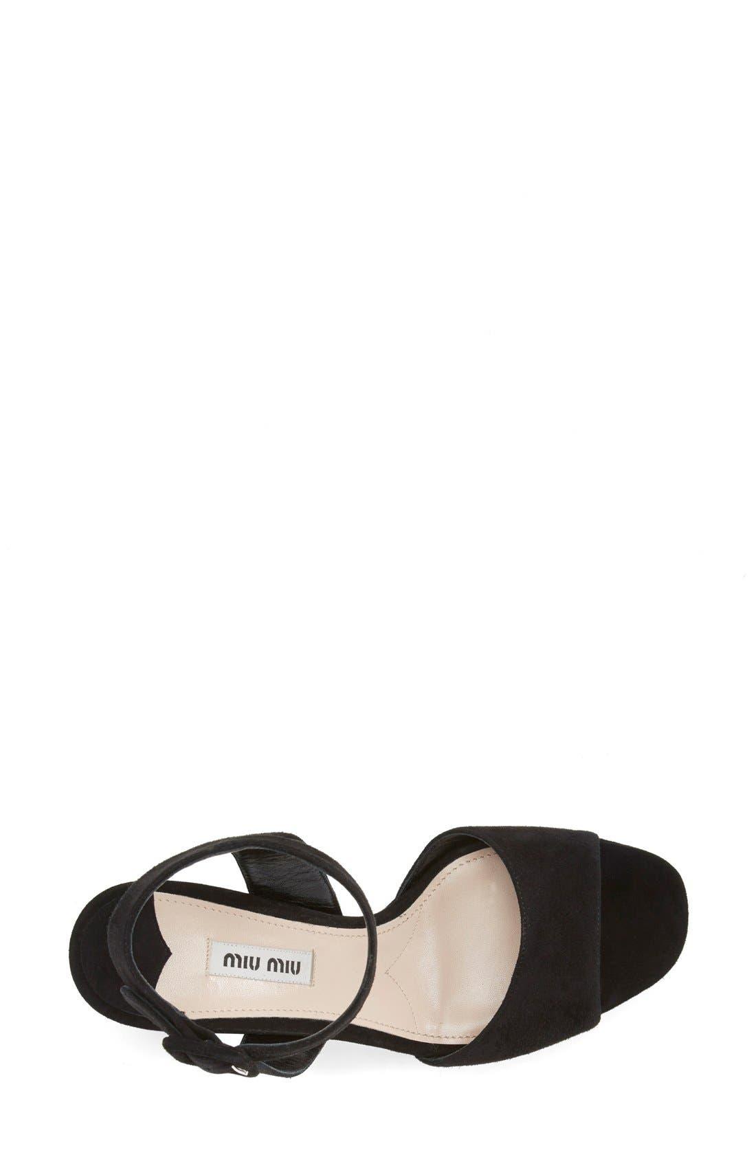 Alternate Image 3  - Miu Miu Block Heel Platform Sandal (Women)