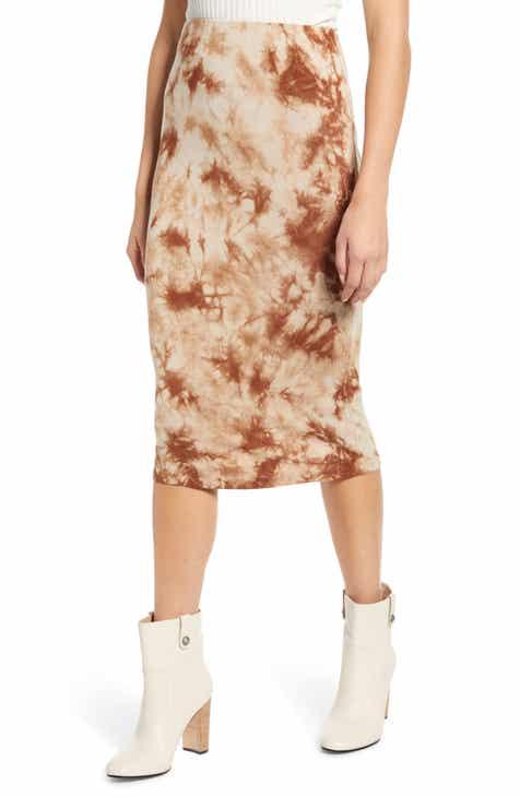 Love, Fire Tie Dye Midi Skirt