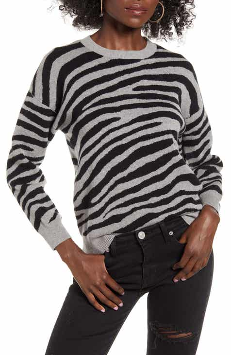 J.O.A Zebra Sweater