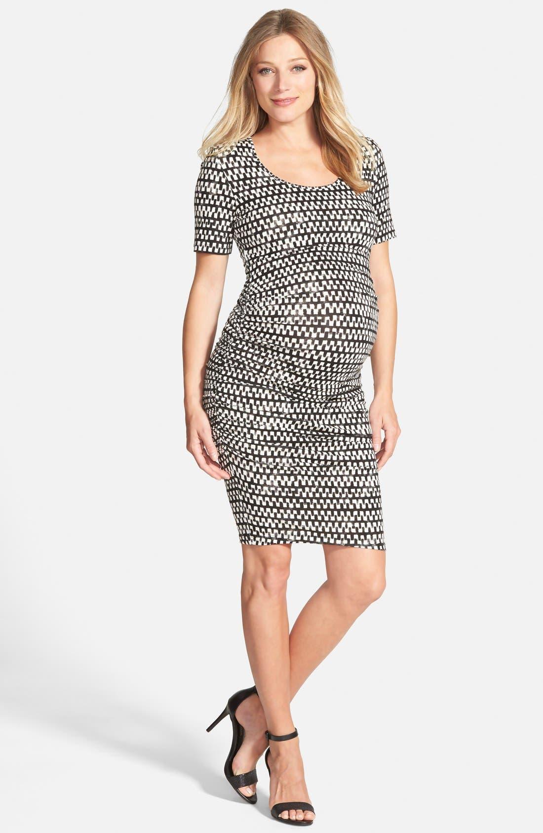 Alternate Image 1 Selected - Tart Maternity 'Bump' Midi Body-Con Maternity Dress