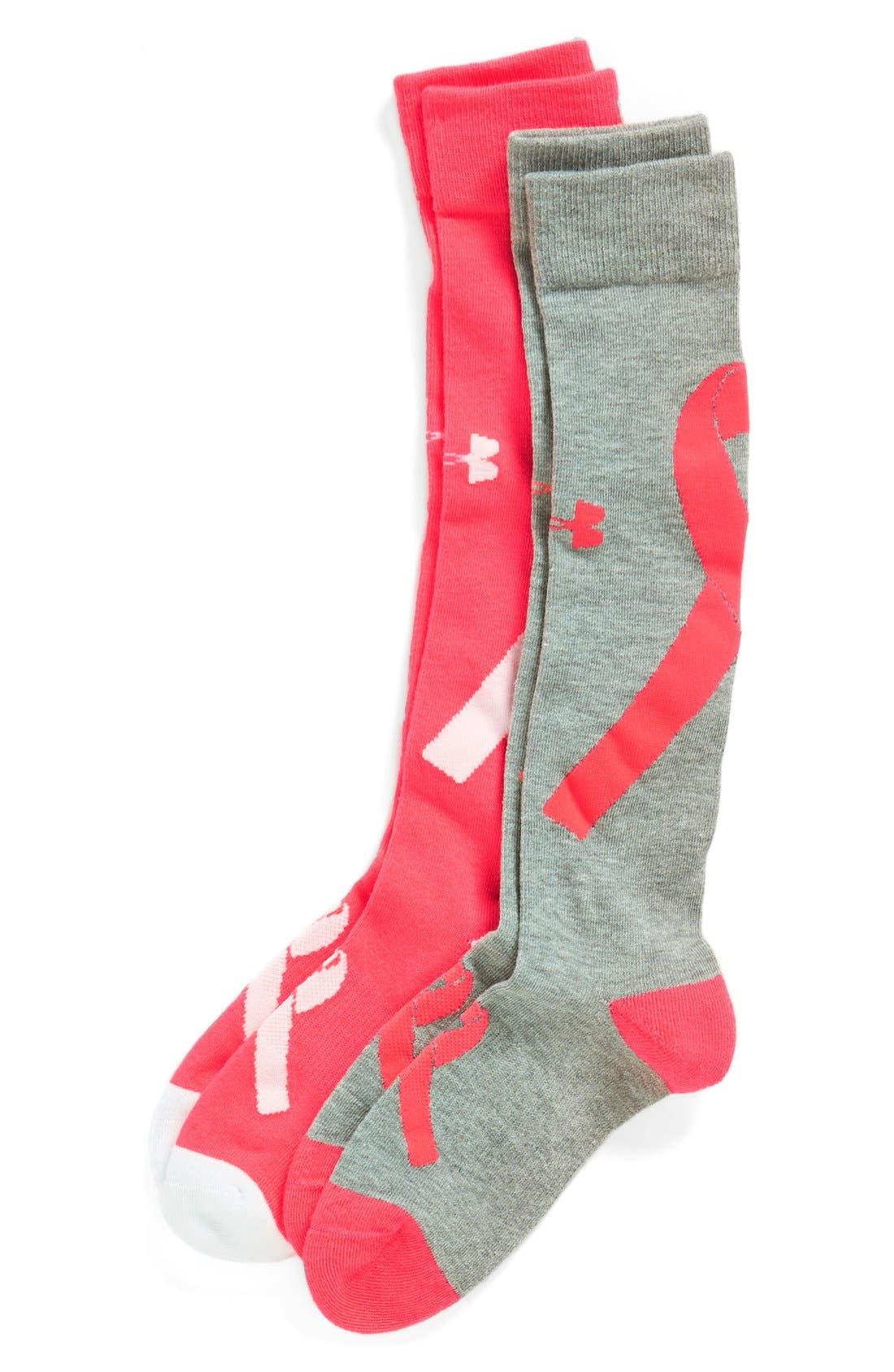 Alternate Image 1 Selected - Under Armour 'Power In Pink' Socks