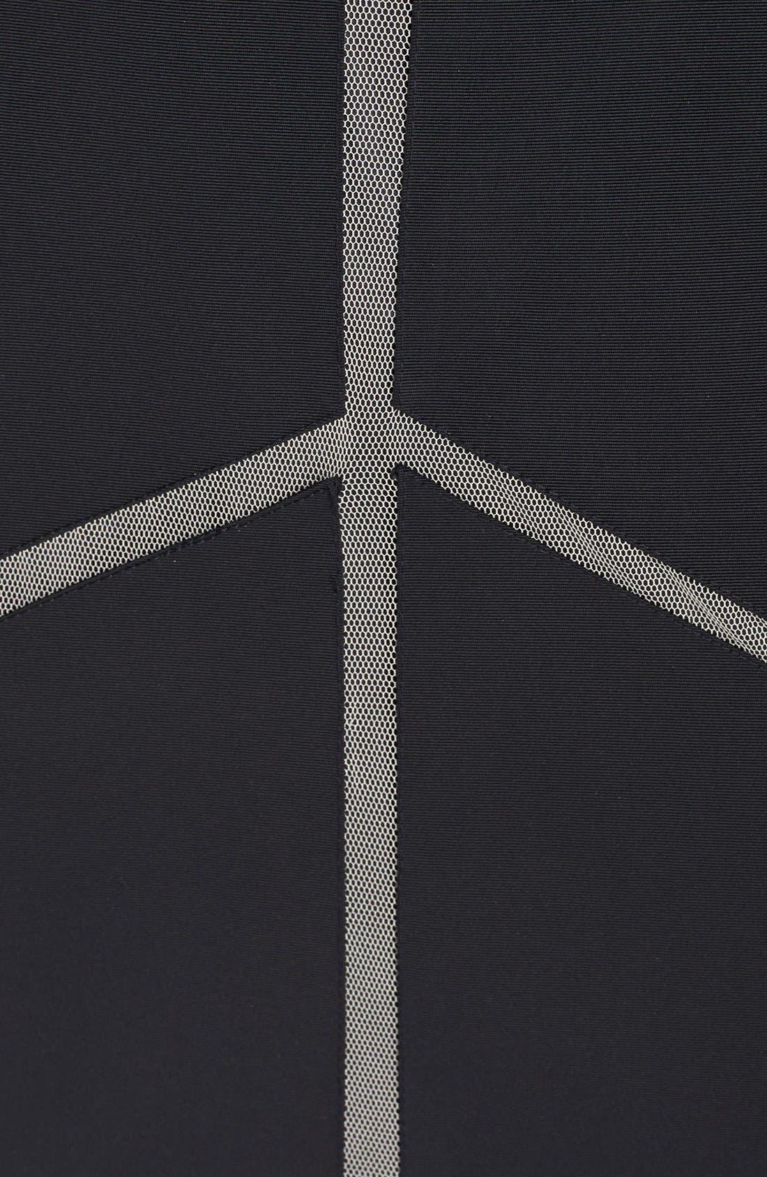 Alternate Image 3  - Aidan Mattox Cutout Satin Fit & Flare Dress