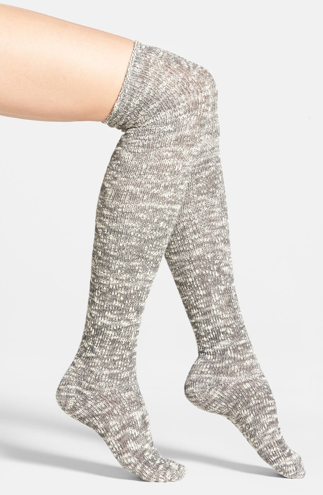 Alternate Image 1 Selected - Nordstrom Slub Knit Over the Knee Socks
