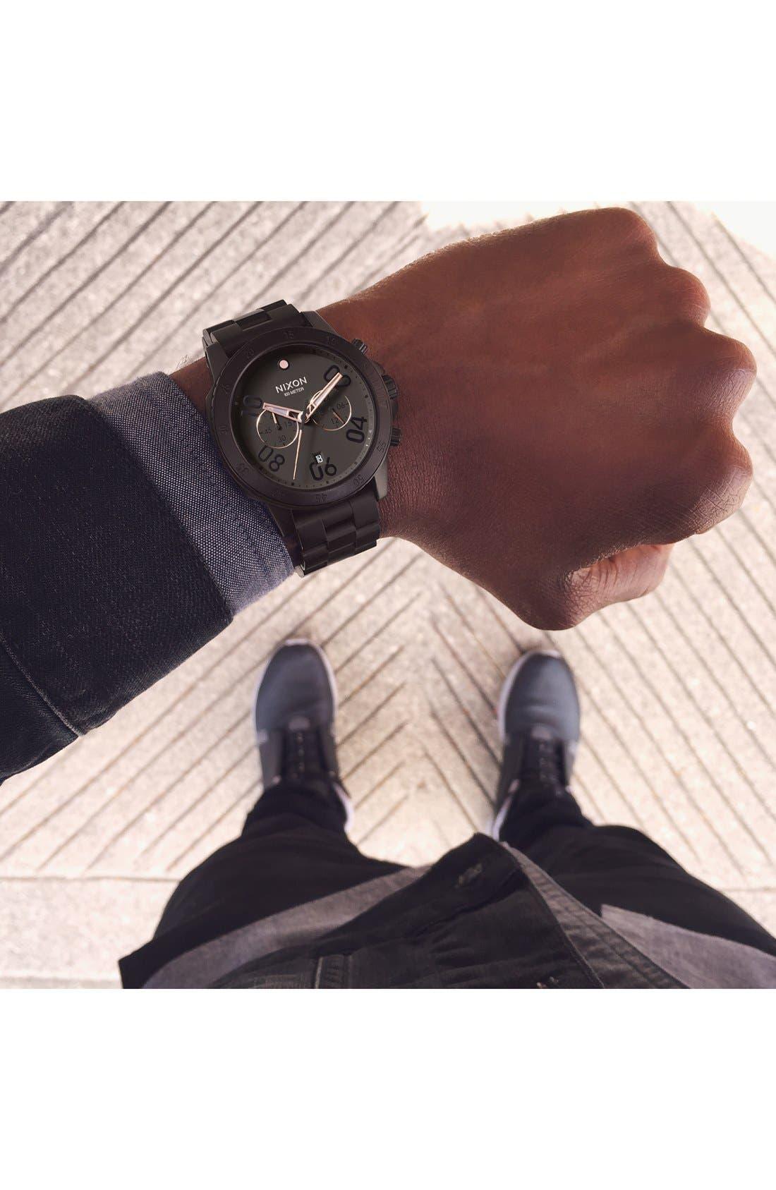 Alternate Image 5  - Nixon 'Ranger' Chronograph Bracelet Watch, 44mm