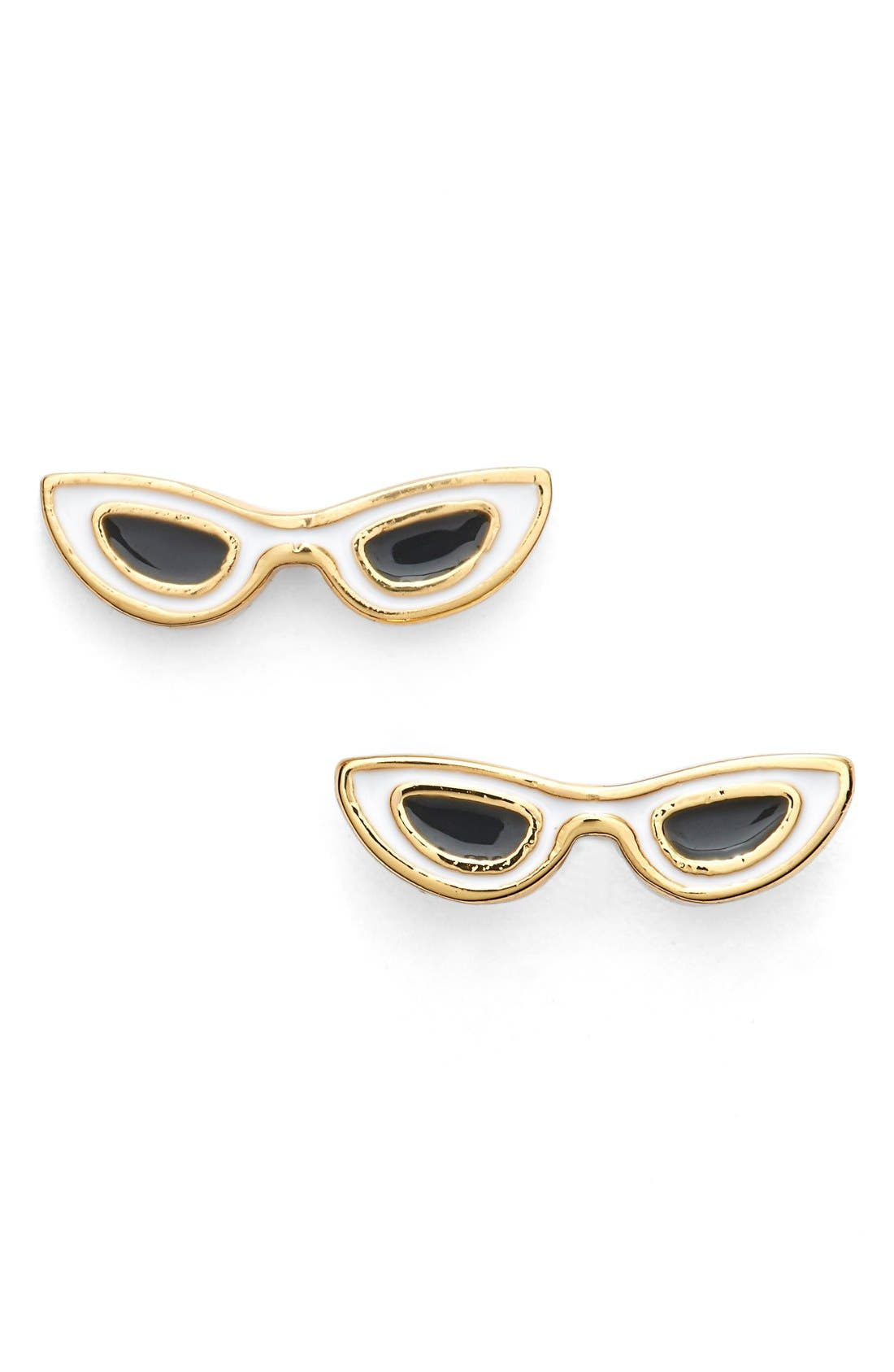 'in the shade' sunglass stud earrings,                         Main,                         color, White Multi