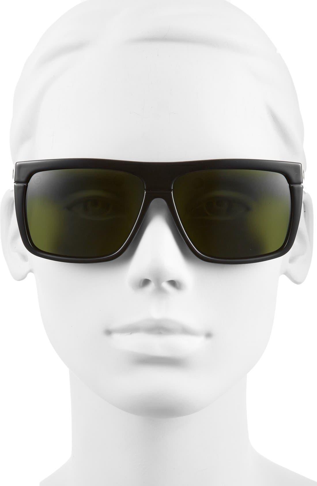 Alternate Image 2  - ELECTRIC 'Black Top' 61mm Flat Top Sunglasses