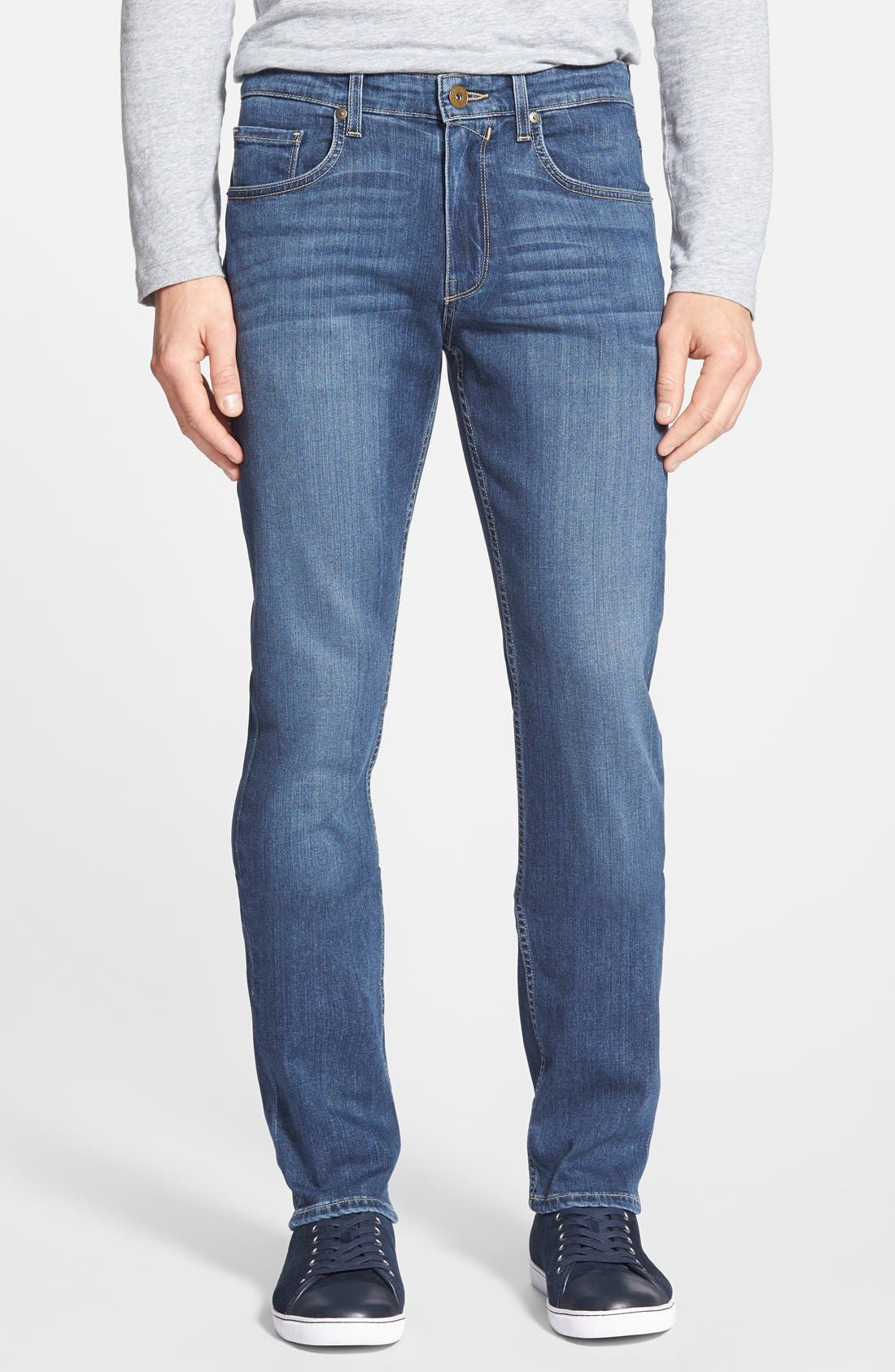 Transcend - Federal Slim Straight Leg Jeans,                         Main,                         color, Birch