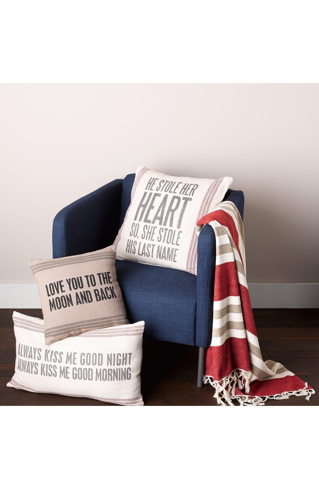 Alternate Image 2  - Primitives by Kathy 'Always Kiss Me Good Night' Pillow