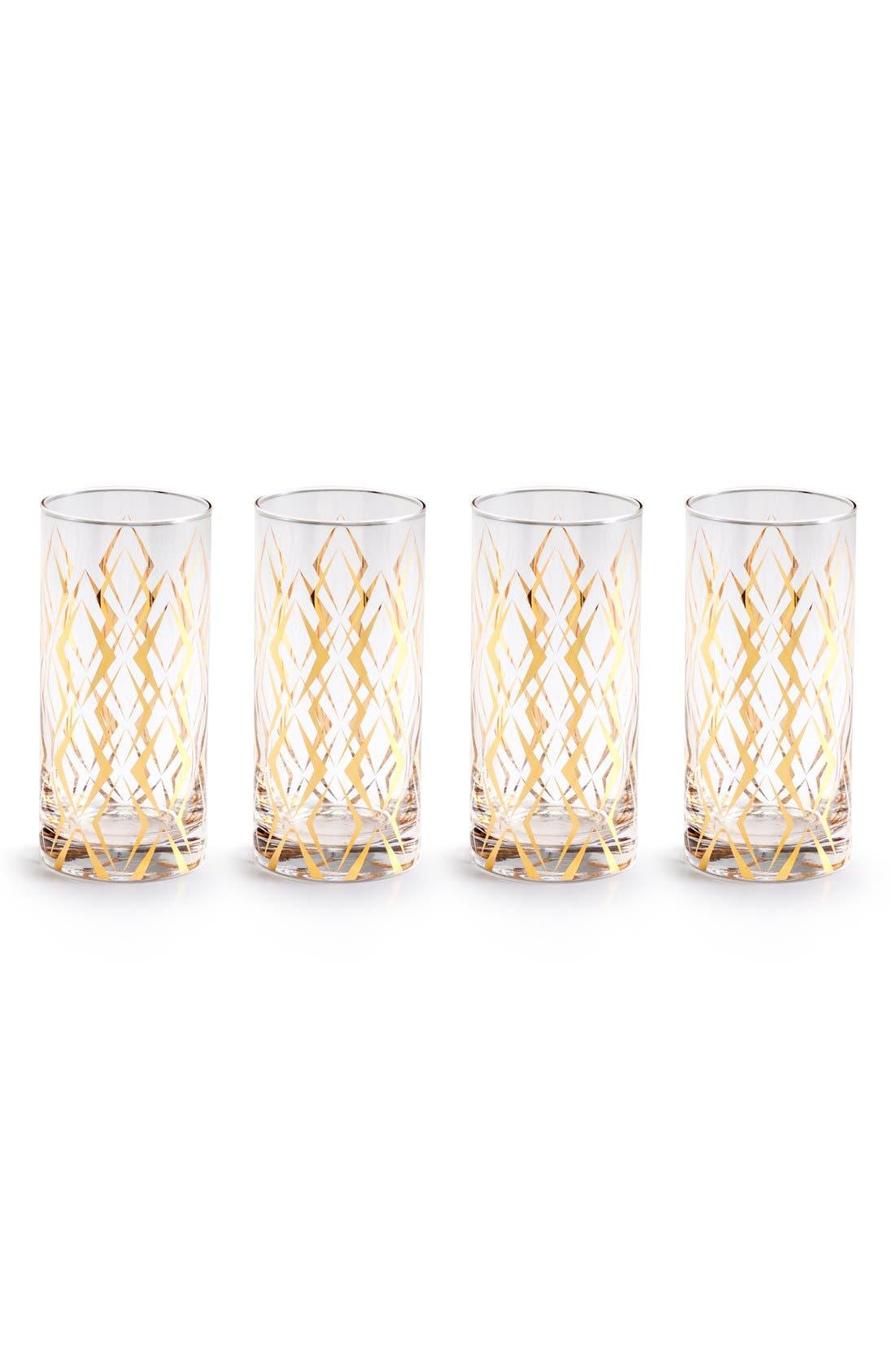 'La Cite' Highball Glasses,                         Main,                         color, White