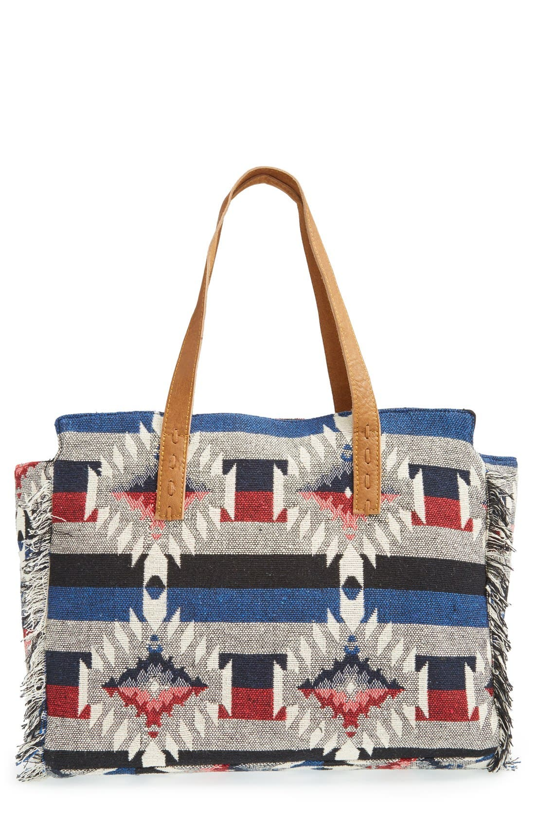 Main Image - Sole Society Woven Geometric Tote