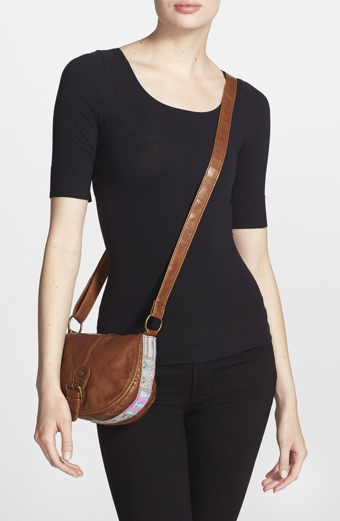 Alternate Image 2  - BP. Woven Border Faux Leather Crossbody Bag