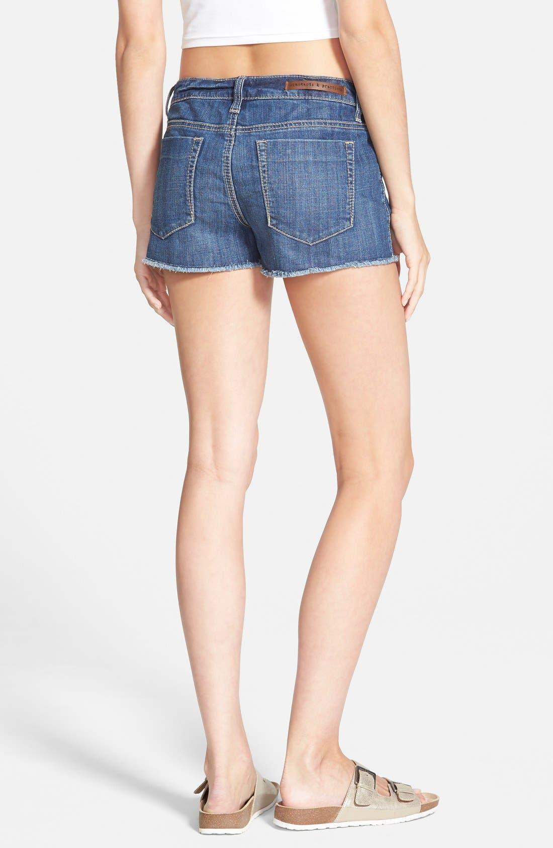 Alternate Image 2  - Standards & Practices Cutoff Denim Shorts (Dark)