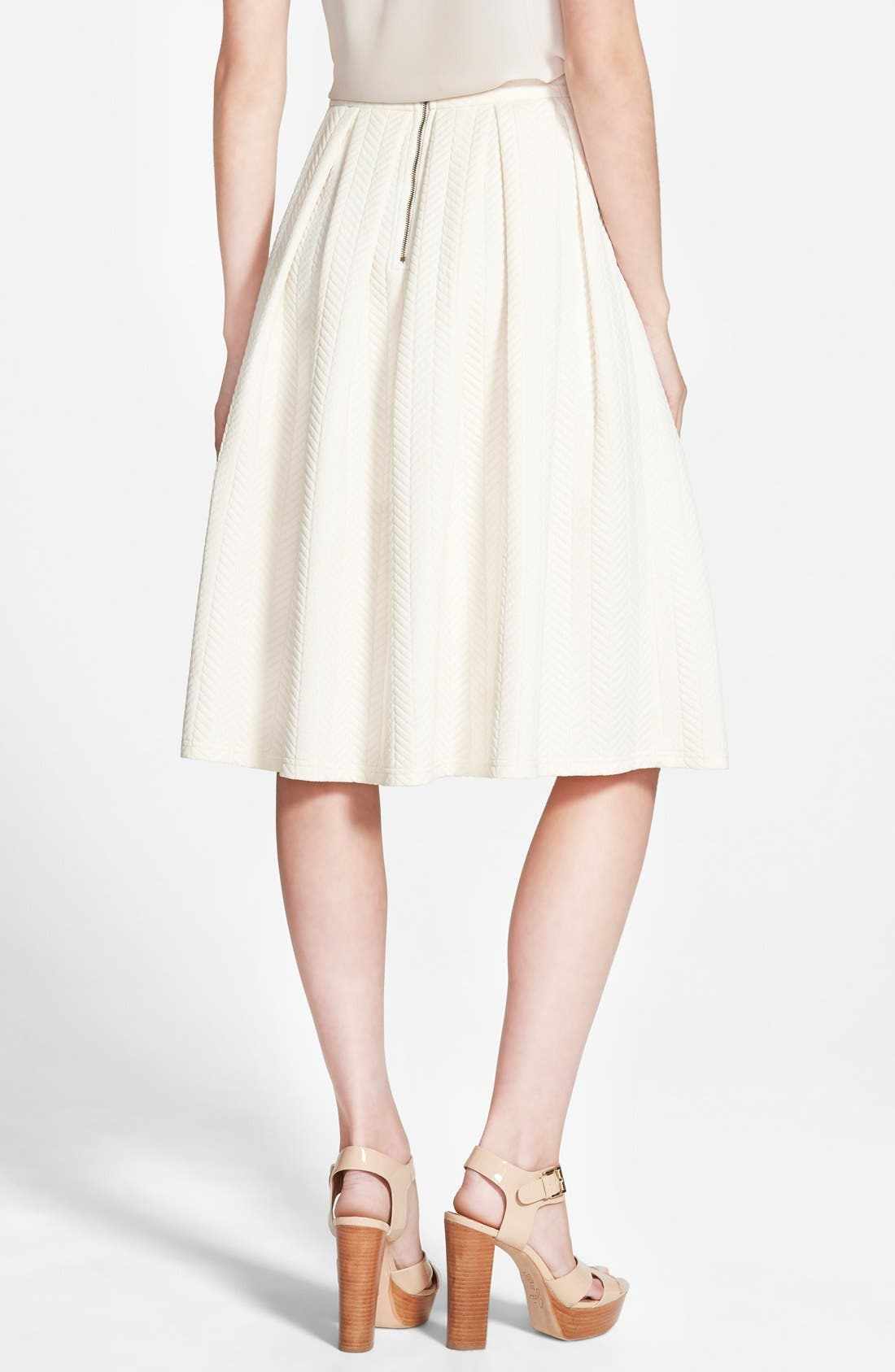 Alternate Image 2  - STOREE Textured Midi Skirt