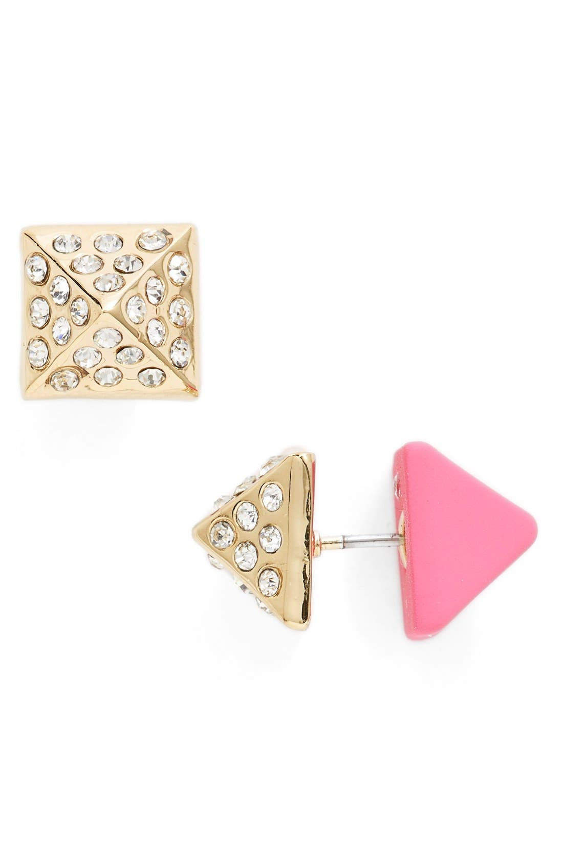 Alternate Image 1 Selected - MARC BY MARC JACOBS 'Diamonds & Daisies' Double Sided Stud Earrings