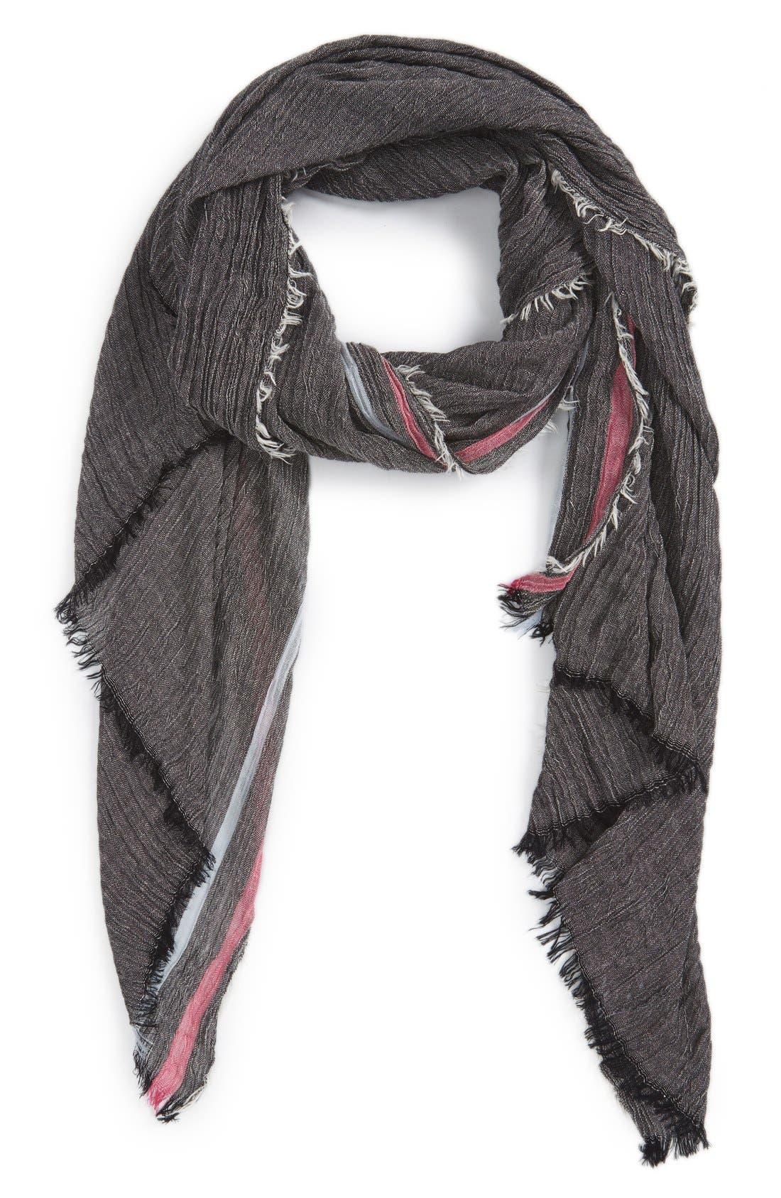 Alternate Image 1 Selected - Renee's Accessories Stripe Crinkle Scarf