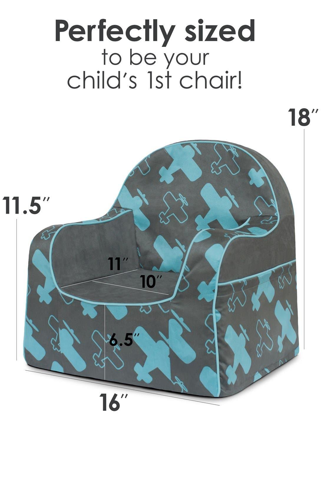 'Personalized Little Reader' Chair,                             Alternate thumbnail 4, color,                             Planes