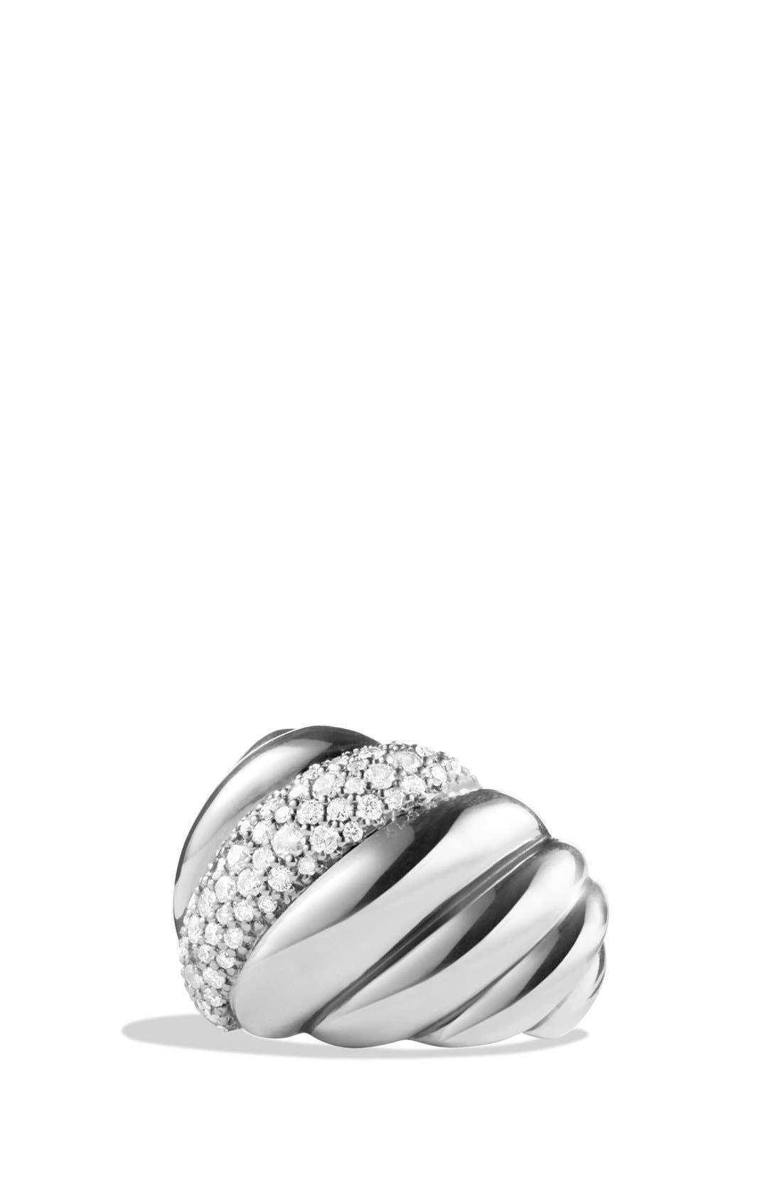 Alternate Image 1 Selected - David Yurman 'Hampton Cable' Ring with Diamonds