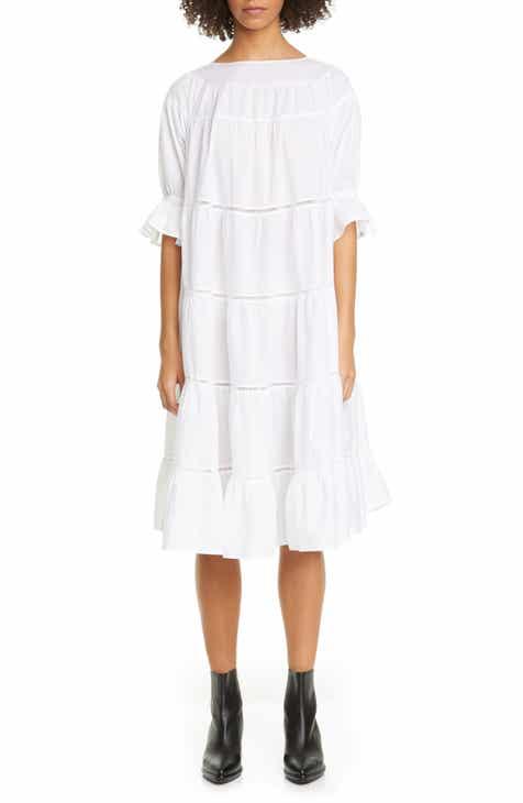 Merlette Paradis Open Tier Cotton Dress