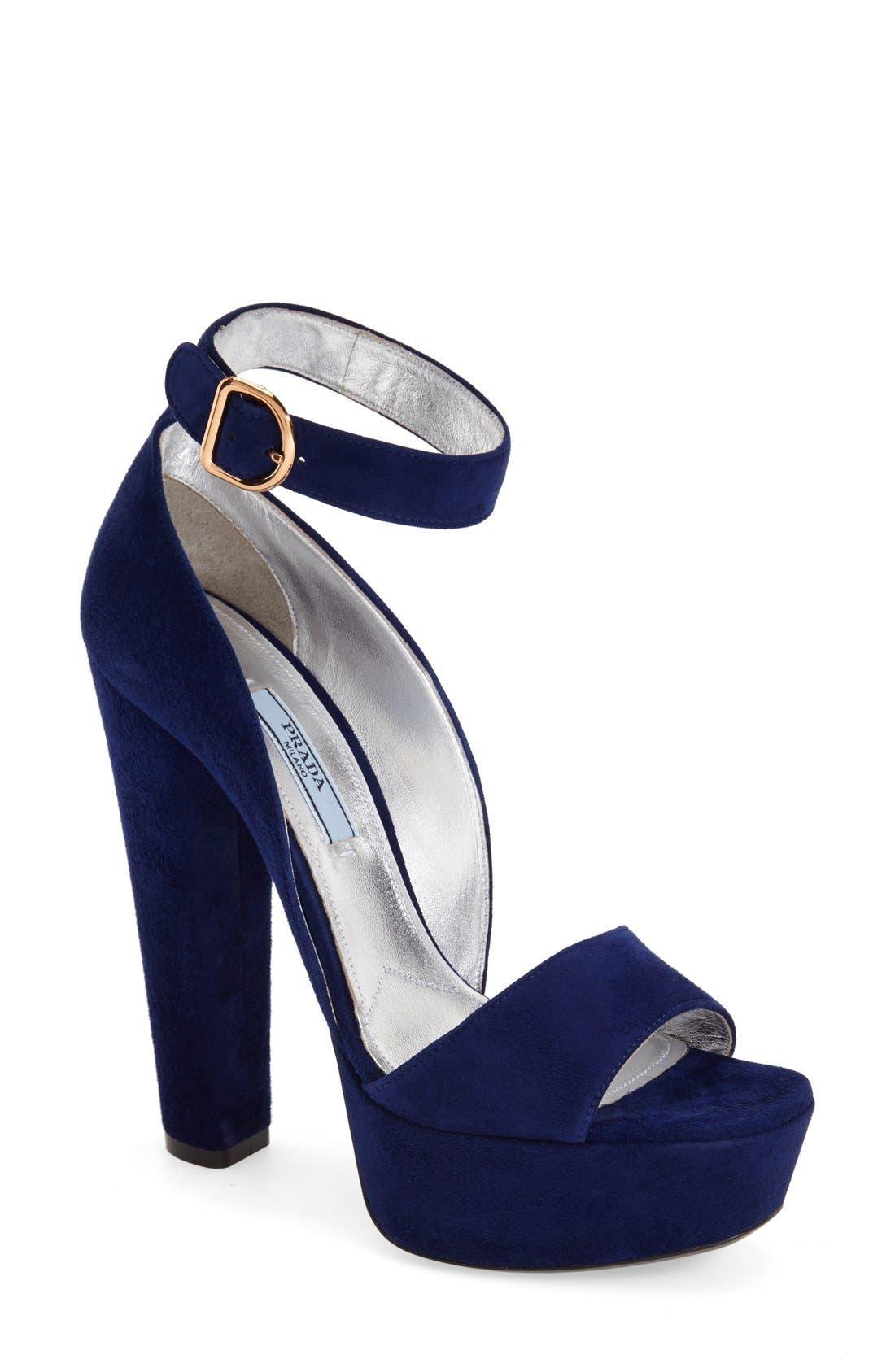 Alternate Image 1 Selected - Prada Chunky Heel Sandal (Women)