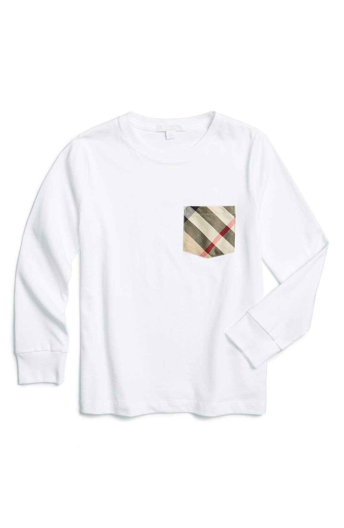 Burberry Check Print Pocket T-Shirt (Little Boys & Big Boys)