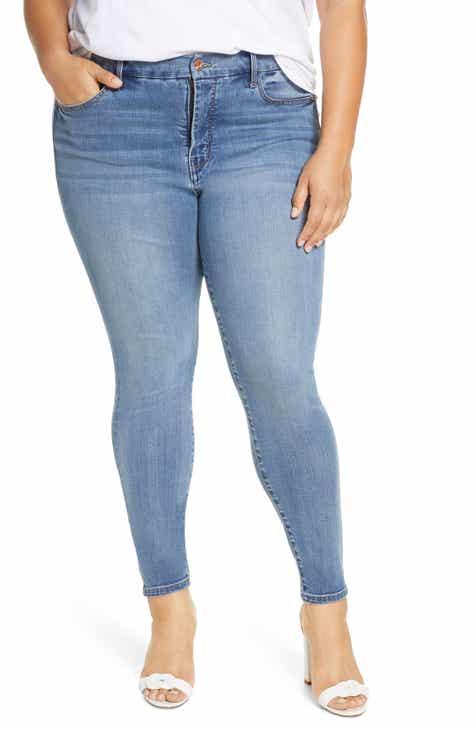 Habitual Elli High Waist Ankle Skinny Jeans (Plus Size)