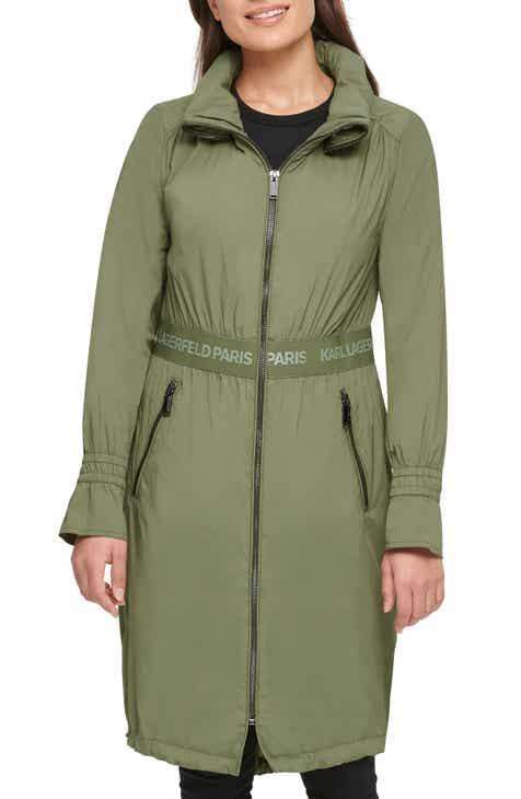 Karl Lagerfeld Paris Long Windbreaker Jacket