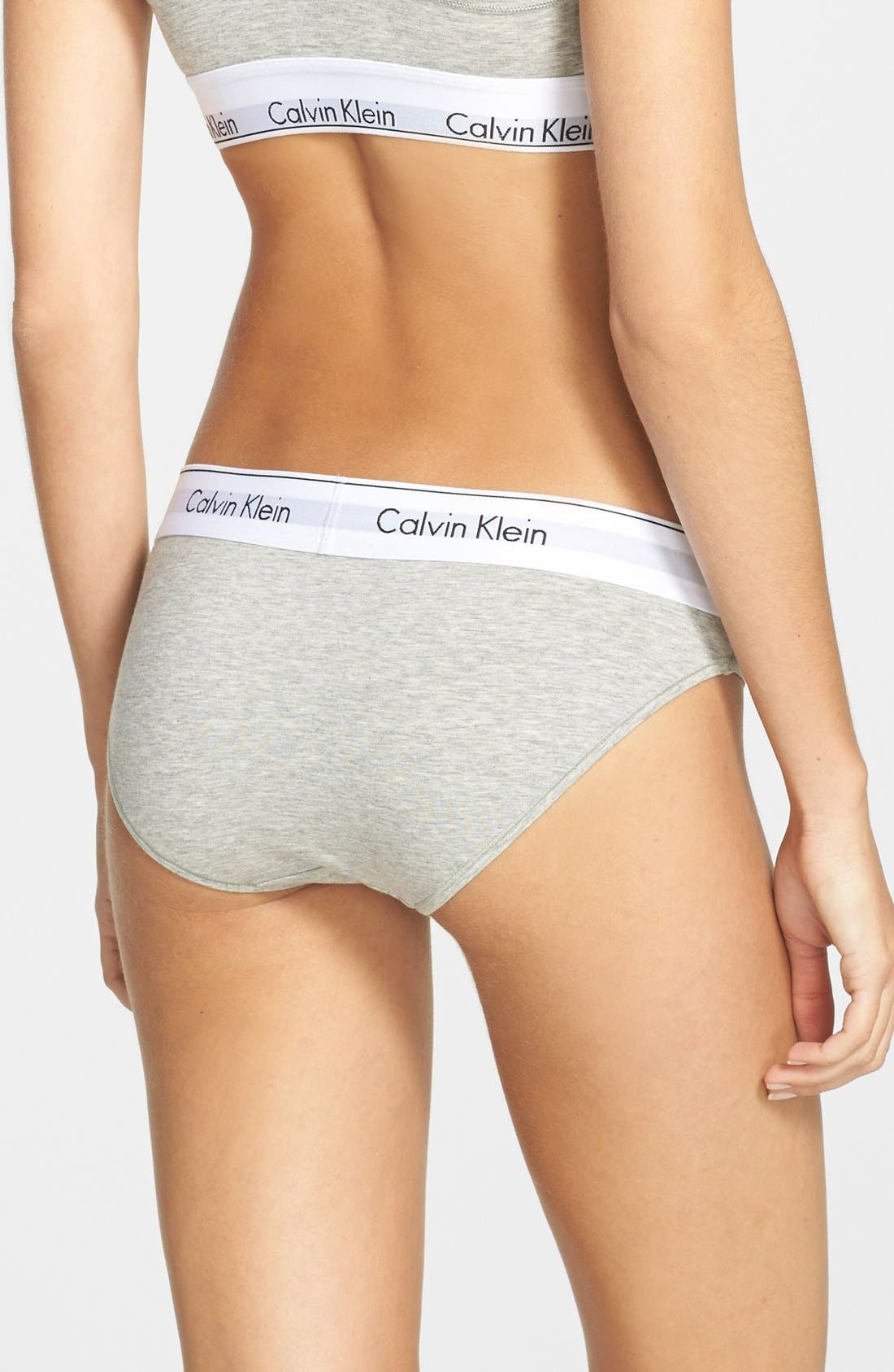 Alternate Image 6  - Calvin Klein 'Modern Cotton Collection' Cotton Blend Bikini