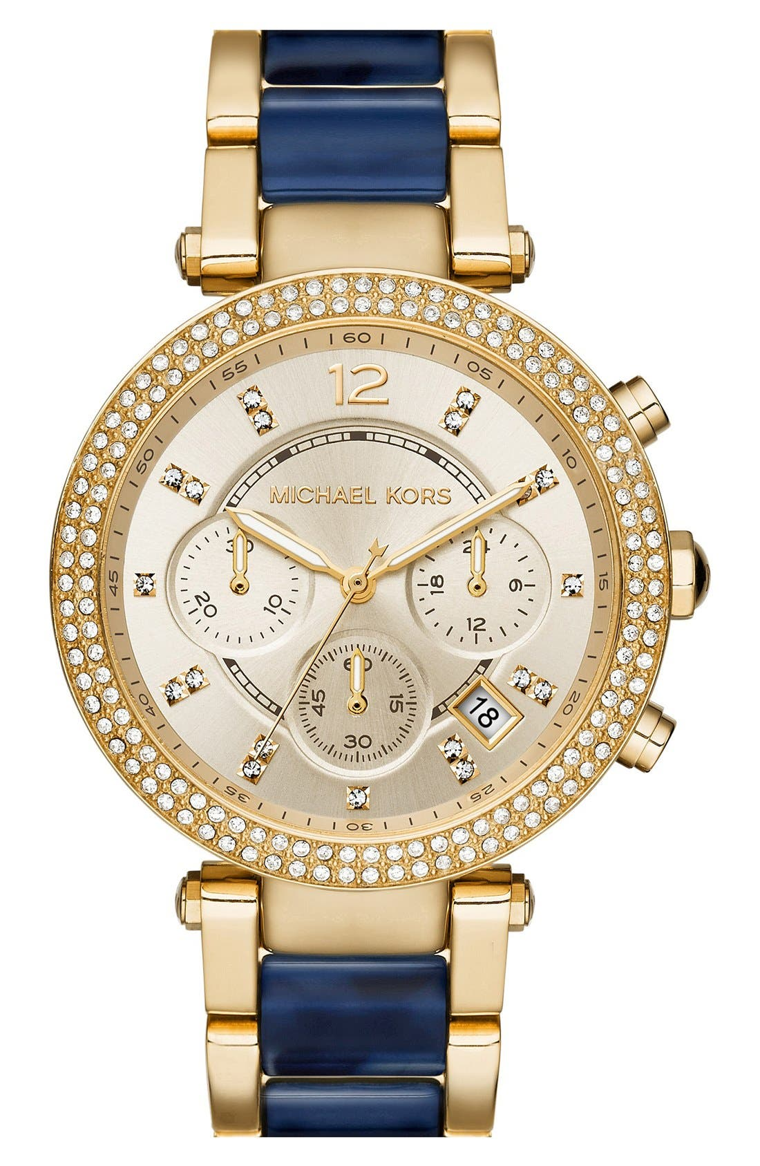 Alternate Image 1 Selected - Michael Kors 'Parker' Chronograph Bracelet Watch, 39mm