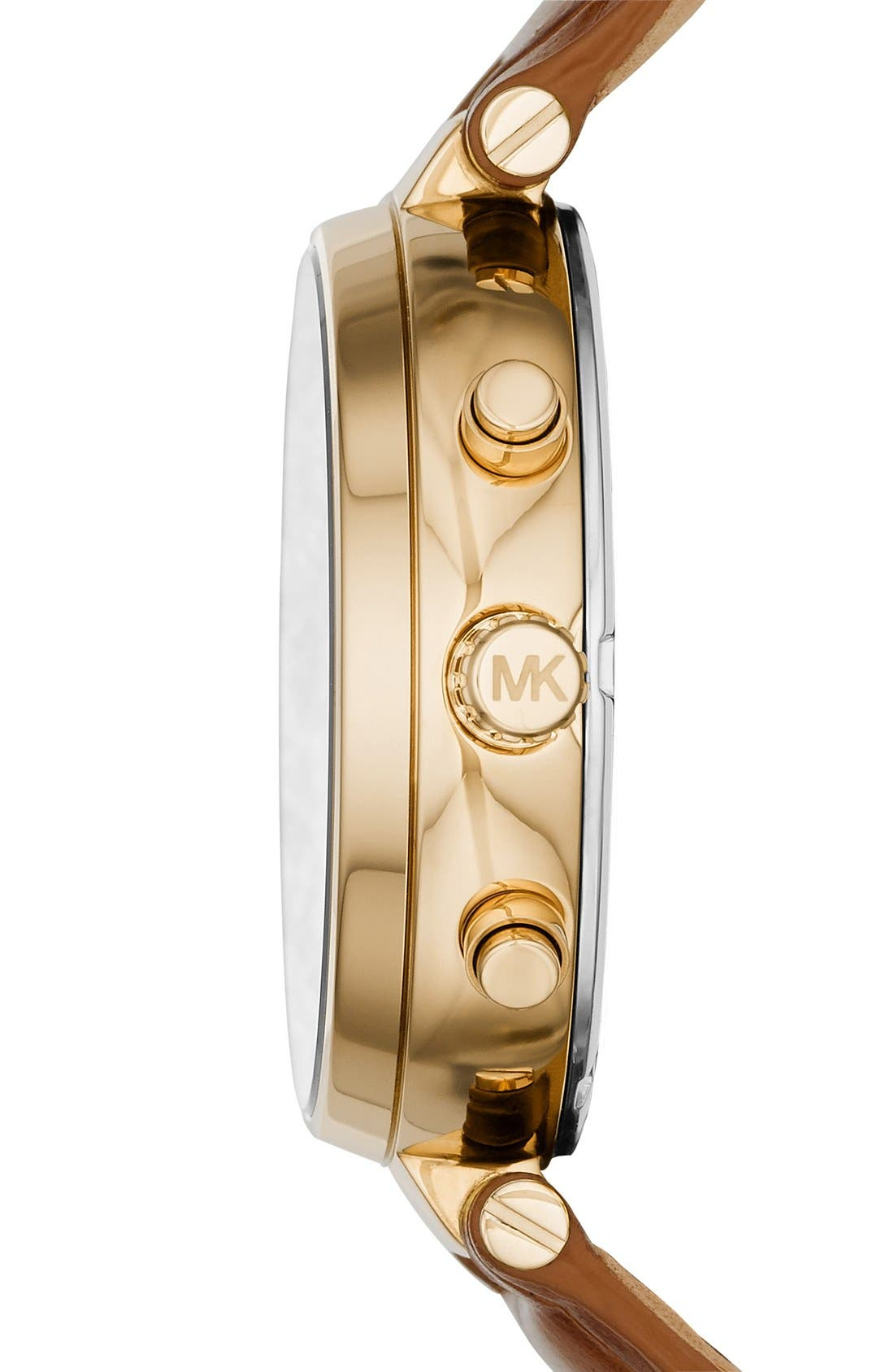 Alternate Image 2  - MICHAEL Michael Kors 'Sawyer' Leather Strap Watch, 39mm