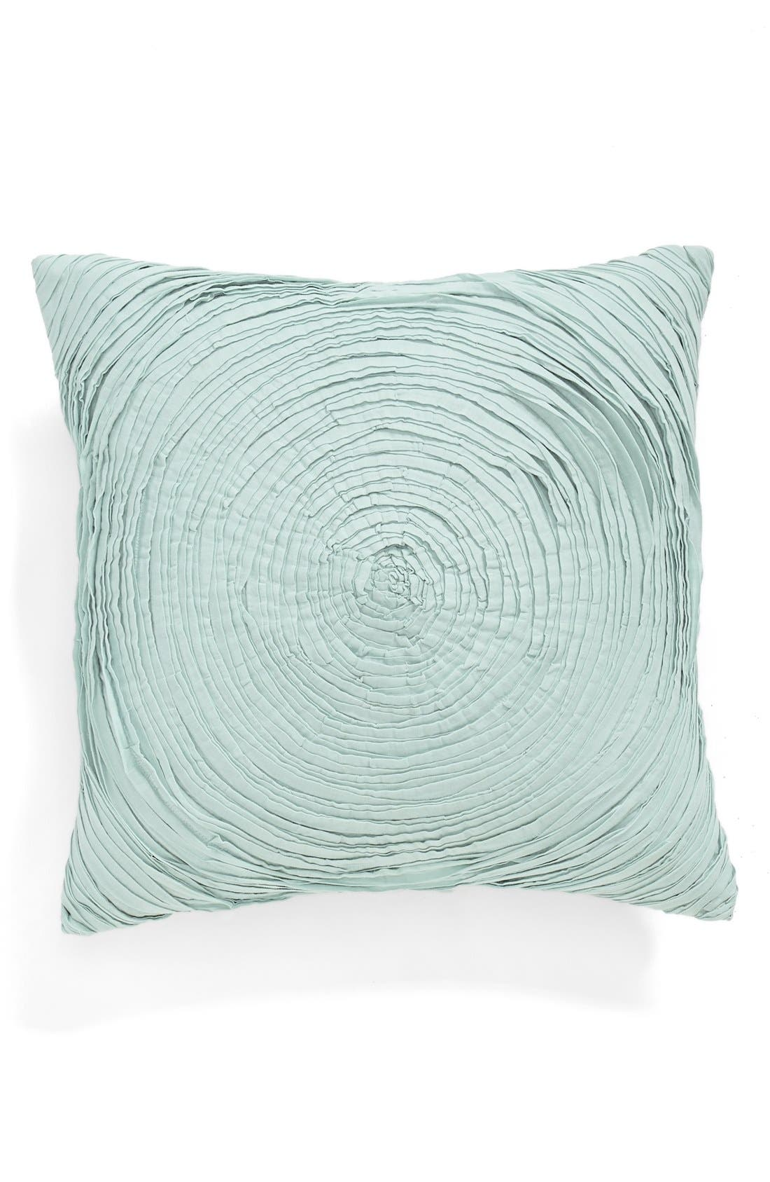 'Full Bloom' Accent Pillow,                             Main thumbnail 1, color,                             Teal Mist