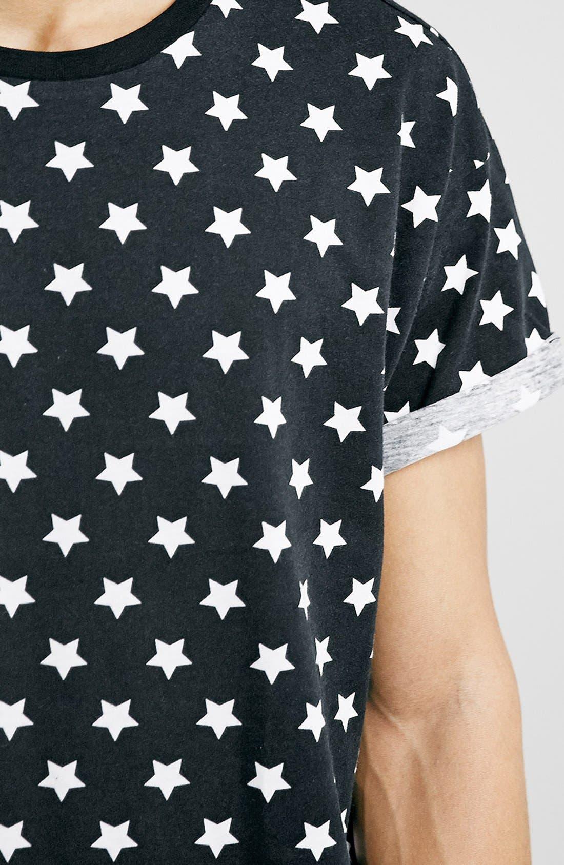 Alternate Image 3  - Topman Star Print Roller T-Shirt