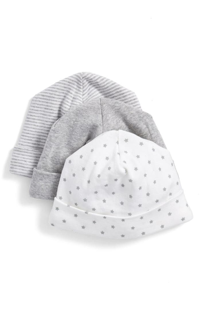 Nordstrom baby cotton hats 3 pack baby nordstrom for Same day custom t shirts near me