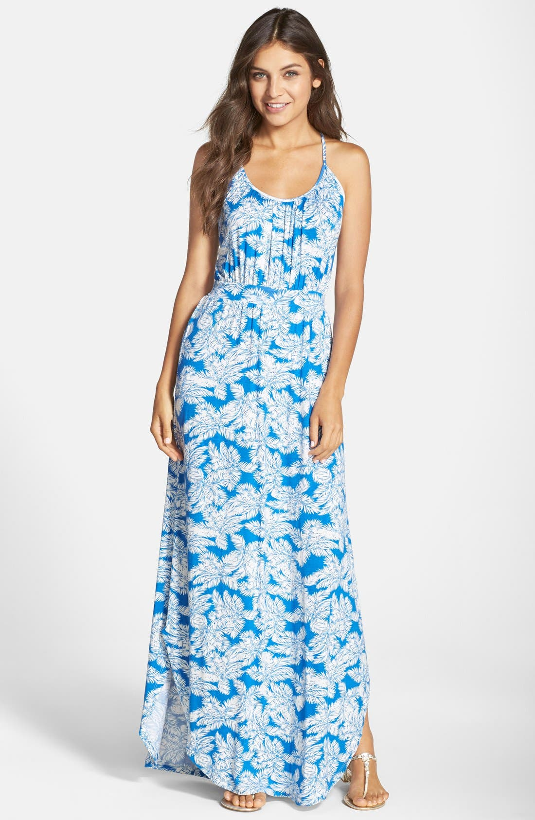 Alternate Image 1 Selected - Fraiche by J Open Back Maxi Dress