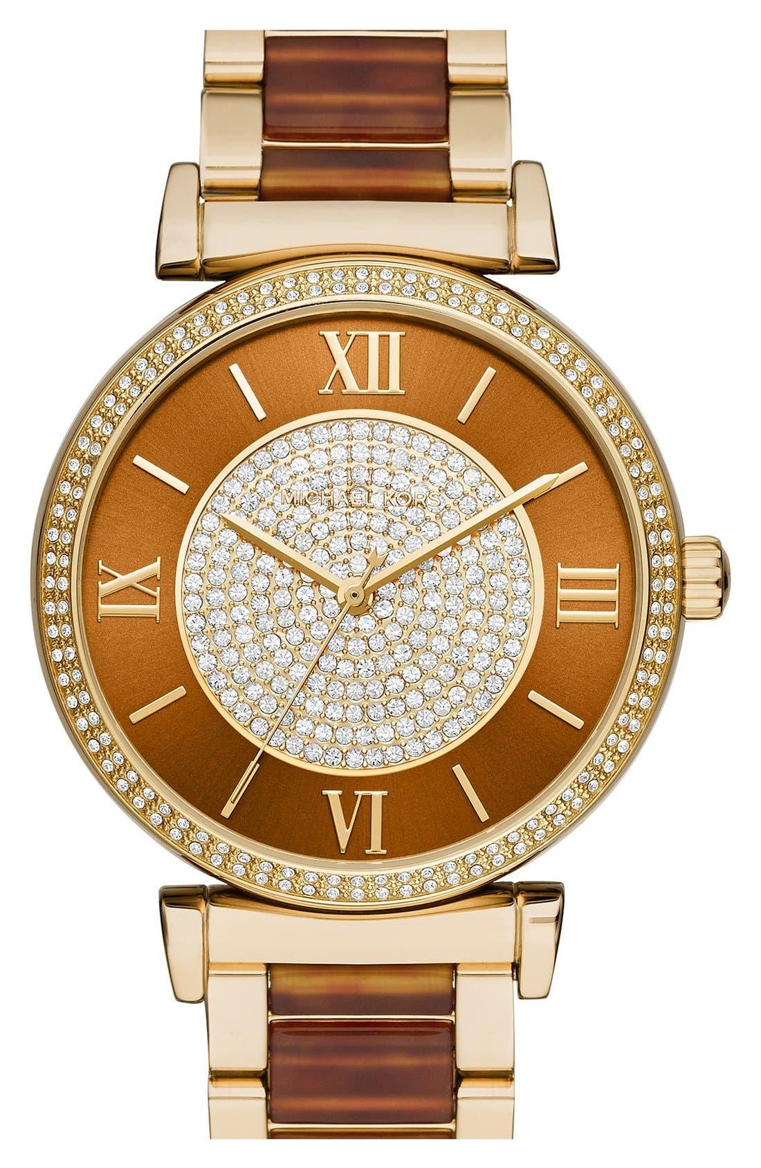 Alternate Image 1 Selected - MICHAEL Michael Kors 'Catlin' Bracelet Watch, 38mm