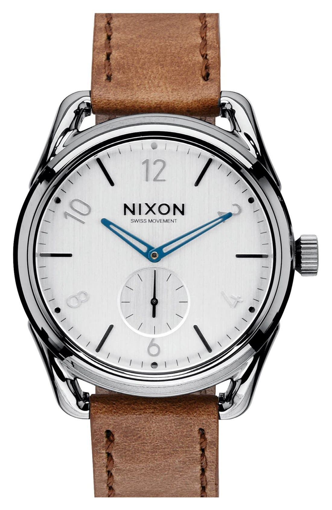 Alternate Image 1 Selected - Nixon 'The C39' Leather Strap Watch, 39mm