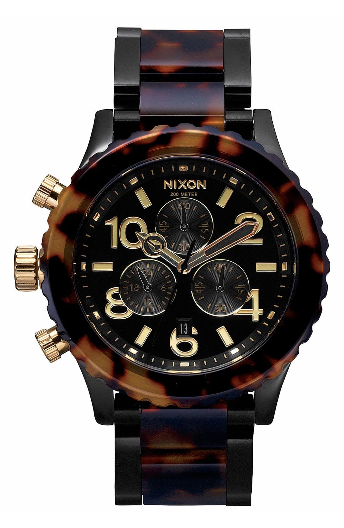 'The 42-20 Chrono' Watch, 42mm,                         Main,                         color, Black/Tort