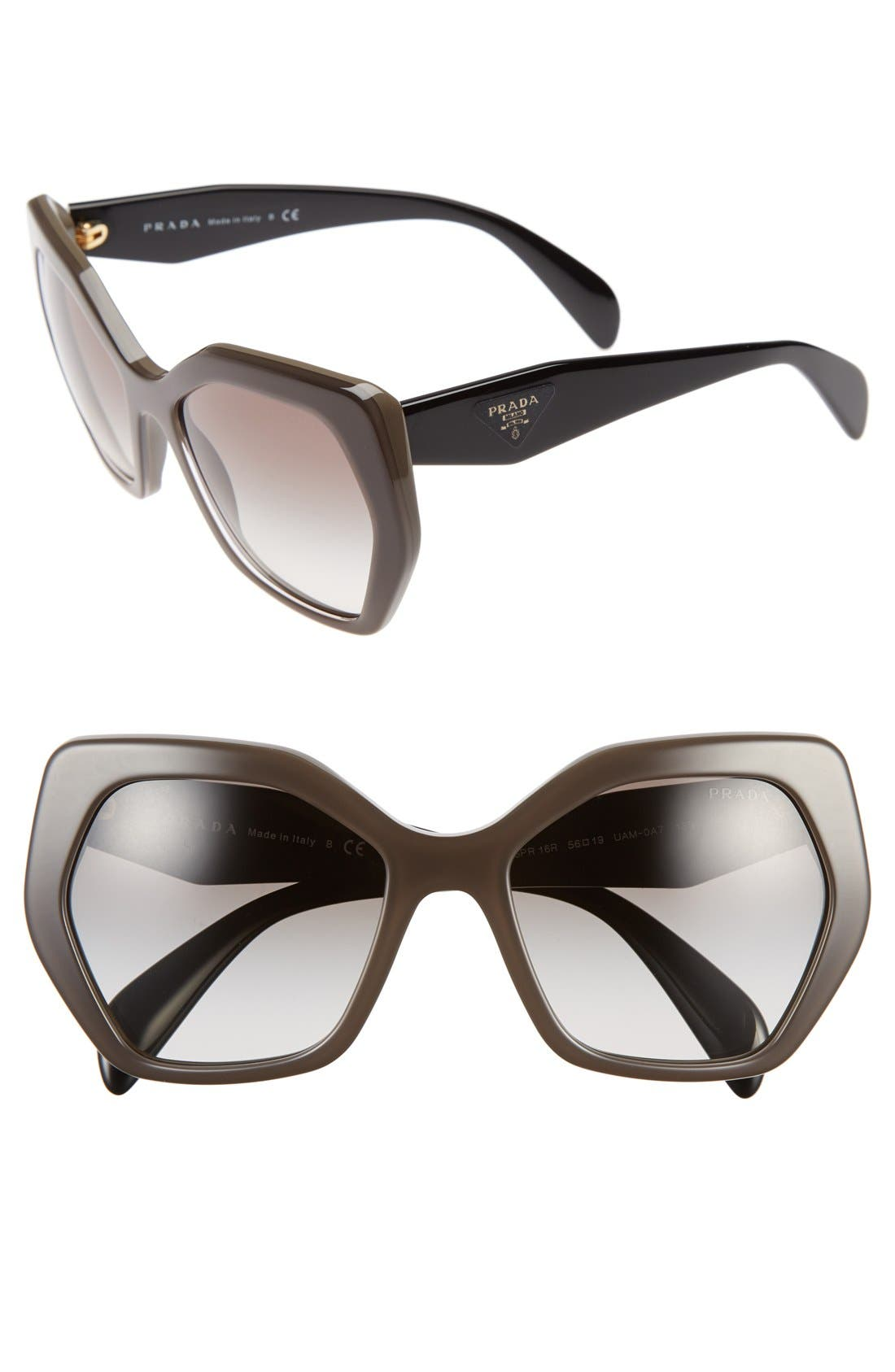 Alternate Image 1 Selected - Prada Heritage 56mm Sunglasses