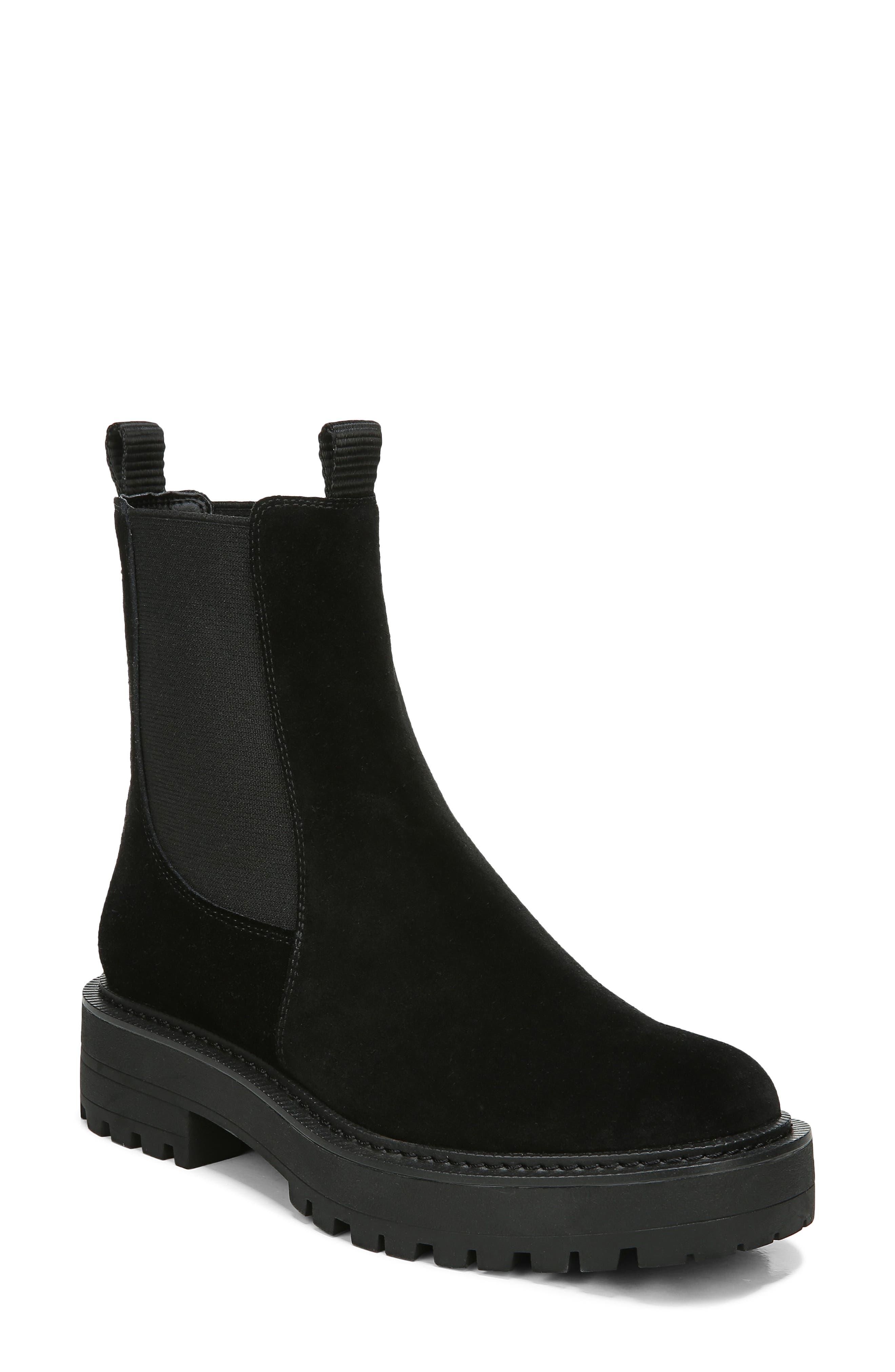 New Ladies Black Low Wedge Heel Ankle Zip Chelsea Shoes Boots Sizes 3 4 5 6 7 8