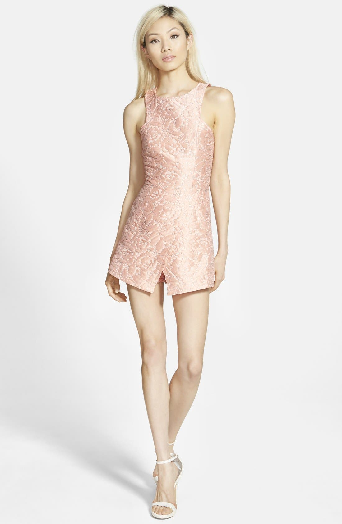 Main Image - Missguided Asymmetrical Floral Romper