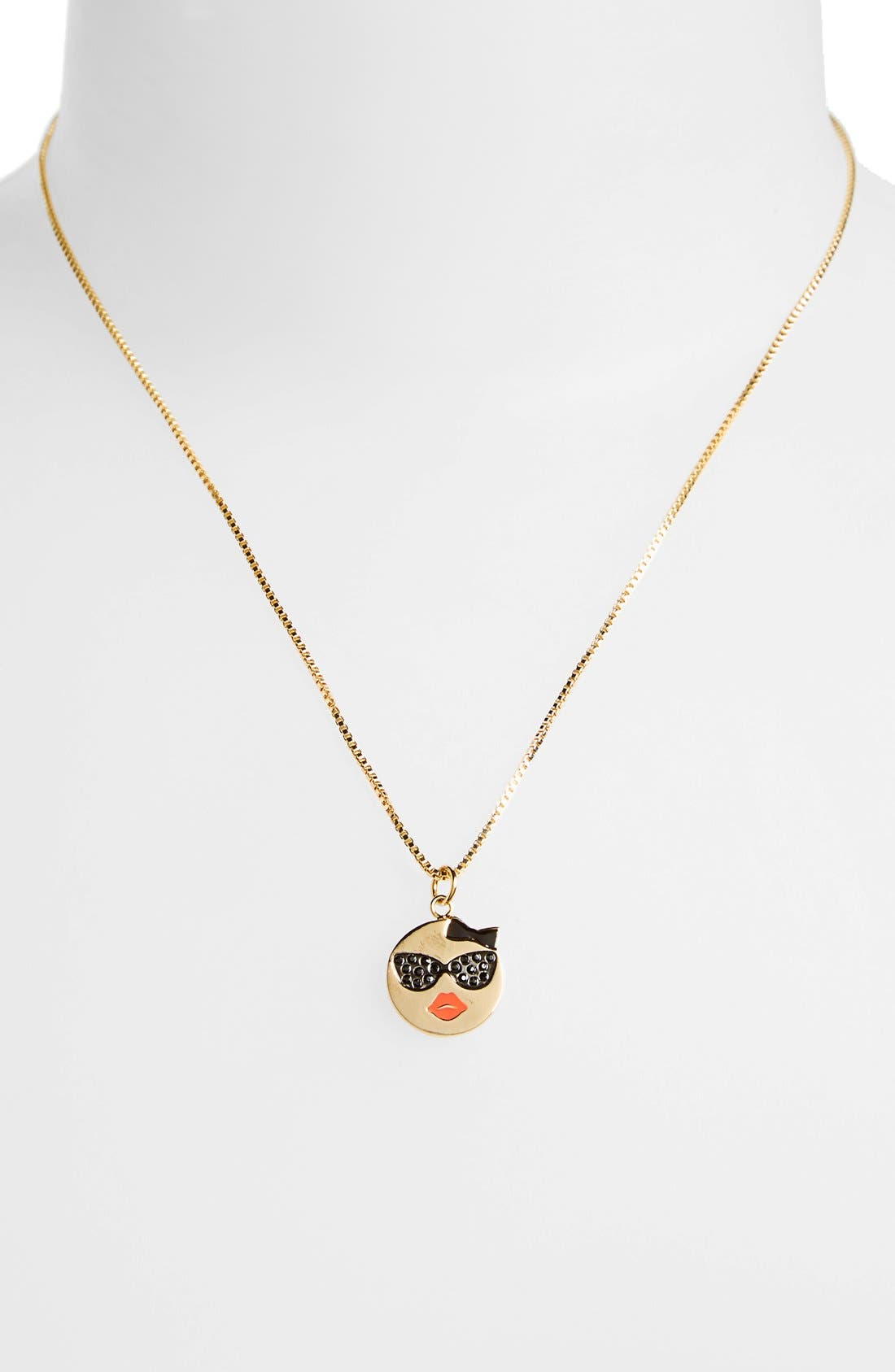 Alternate Image 2  - kate spade new york 'tell all' emoji pendant necklace